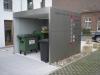 Garagenanbau als Abstellplatz für Sammelbehälter